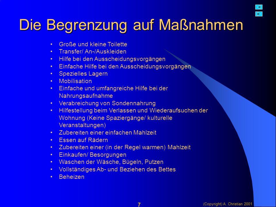 (Copyright) A.Christian 2001 18 Ein zweites Beispiel...