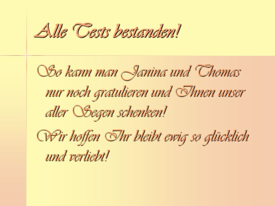 Alle Tests bestanden.
