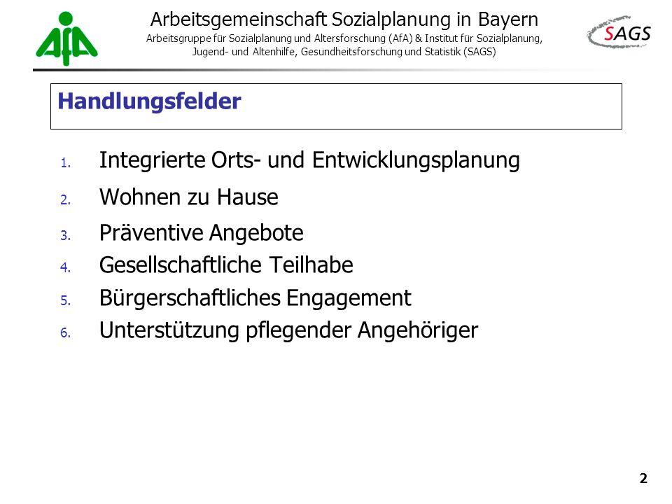 2 Arbeitsgemeinschaft Sozialplanung in Bayern Arbeitsgruppe für Sozialplanung und Altersforschung (AfA) & Institut für Sozialplanung, Jugend- und Alte