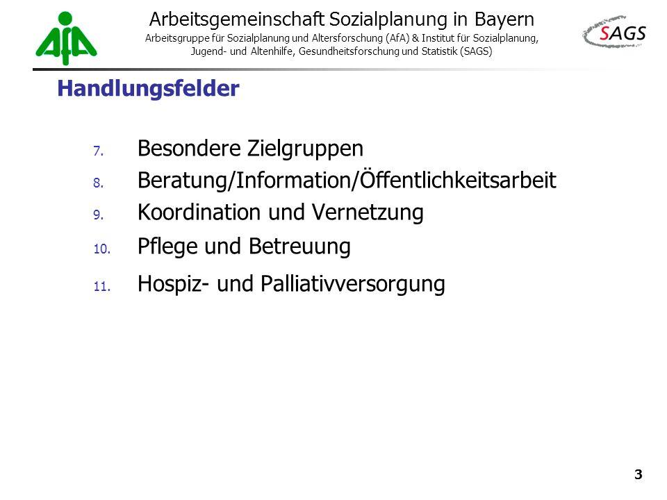 3 Arbeitsgemeinschaft Sozialplanung in Bayern Arbeitsgruppe für Sozialplanung und Altersforschung (AfA) & Institut für Sozialplanung, Jugend- und Alte