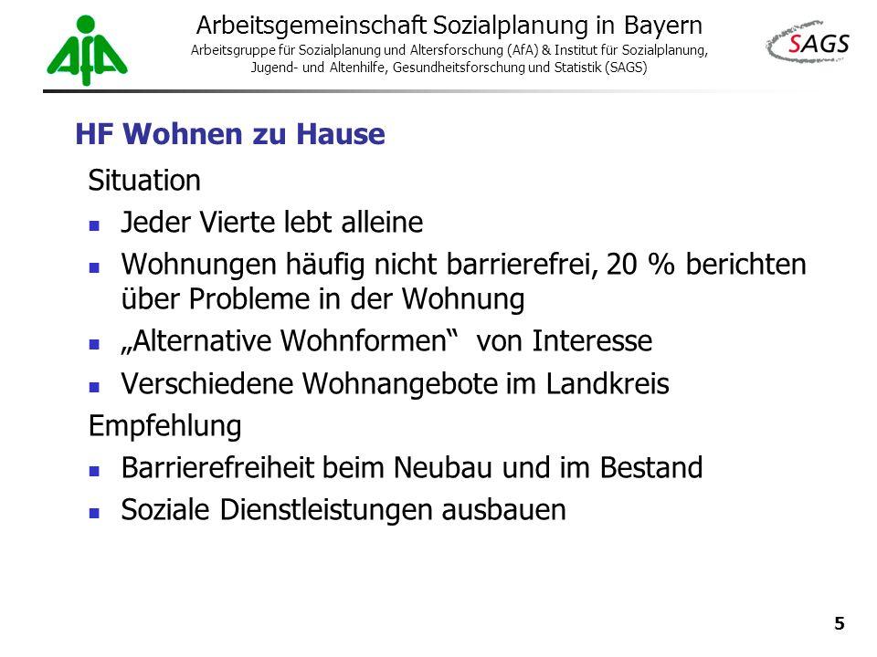5 Arbeitsgemeinschaft Sozialplanung in Bayern Arbeitsgruppe für Sozialplanung und Altersforschung (AfA) & Institut für Sozialplanung, Jugend- und Alte