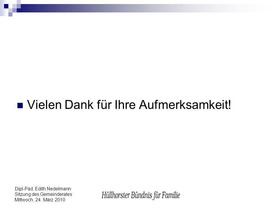 Dipl-Päd. Edith Nedelmann Sitzung des Gemeinderates Mittwoch, 24. März 2010 Vielen Dank für Ihre Aufmerksamkeit!