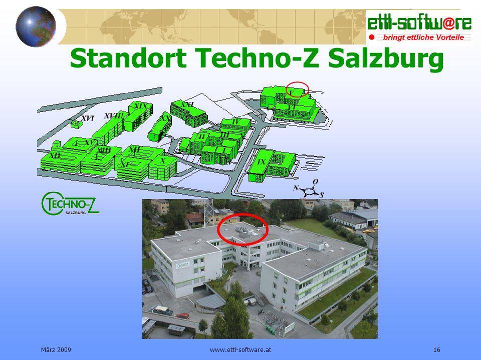 März 2009www.ettl-software.at16 Standort Techno-Z Salzburg