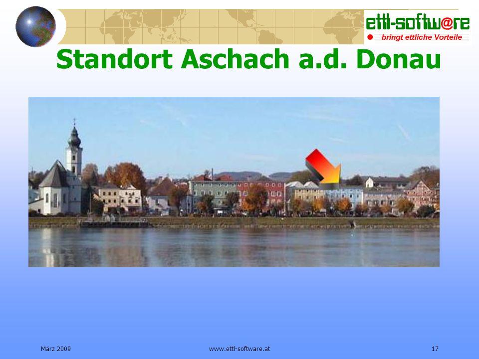 März 2009www.ettl-software.at17 Standort Aschach a.d. Donau