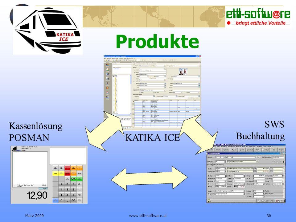 März 2009www.ettl-software.at30 Produkte Kassenlösung POSMAN SWS Buchhaltung KATIKA ICE