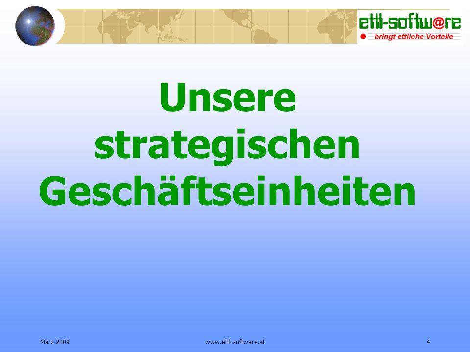 März 2009www.ettl-software.at4 Unsere strategischen Geschäftseinheiten