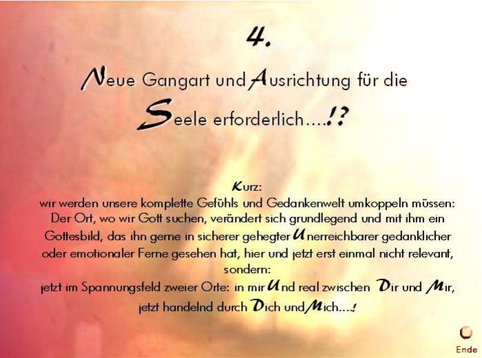 4. Gangart der Seele Ende