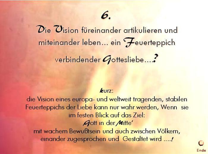 6. Die Vision leben Ende