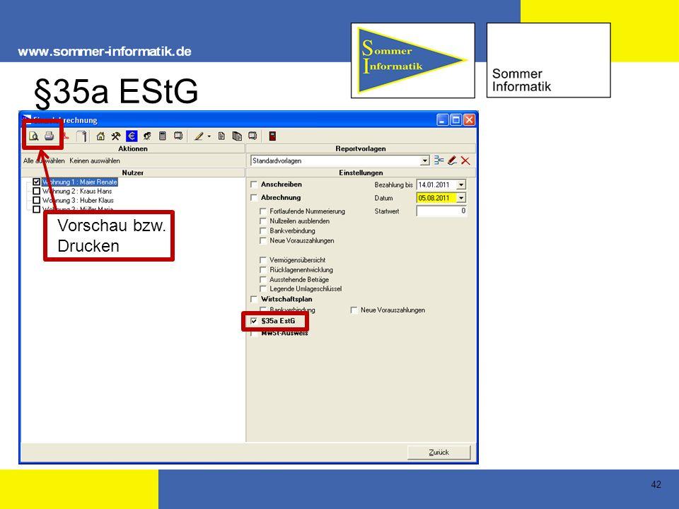 42 §35a EStG Vorschau bzw. Drucken