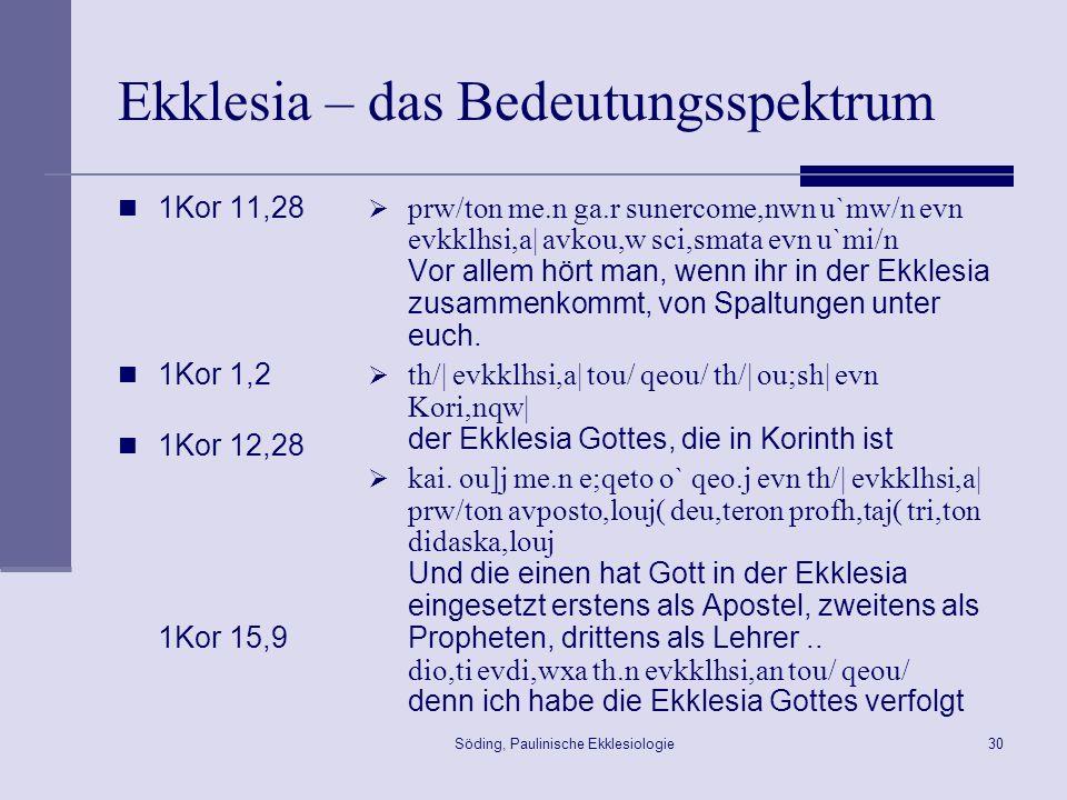 Söding, Paulinische Ekklesiologie31 Bürgerrecht Josephus, Contra Apionem 2,39 Muss ich noch weiteres ansprechen.