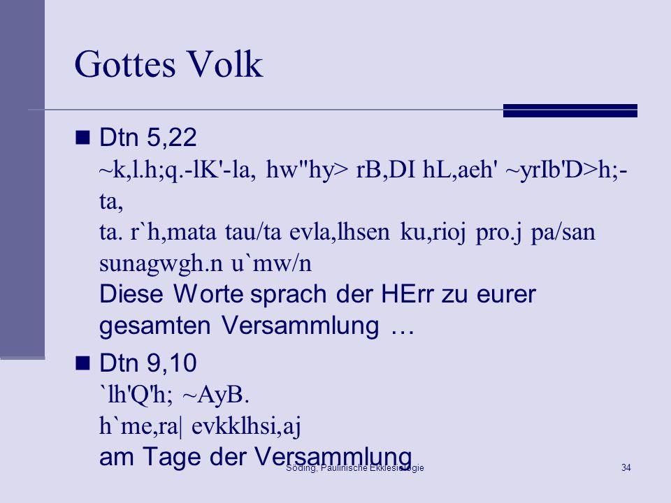 Söding, Paulinische Ekklesiologie35 Gottes Volk - Qumran 1QM 4,9ff.