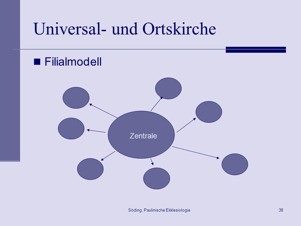 Söding, Paulinische Ekklesiologie39 Universal- und Ortskirche Genossenschaftsmodell