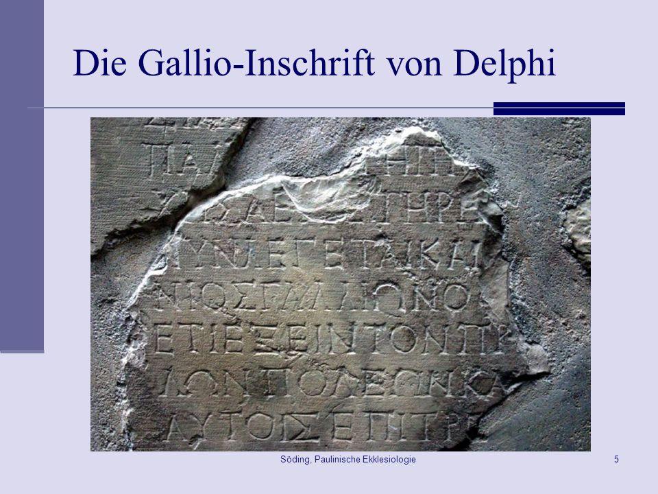 Söding, Paulinische Ekklesiologie6 Die Fortsetzung der Reise Apg 18,18-22 18 Paulus blieb noch längere Zeit.