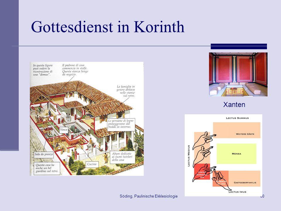 Söding, Paulinische Ekklesiologie61 Das Mahl des Herrn in Korinth 1Kor 11,33 w[ste( avdelfoi, mou( sunerco,menoi eivj to.