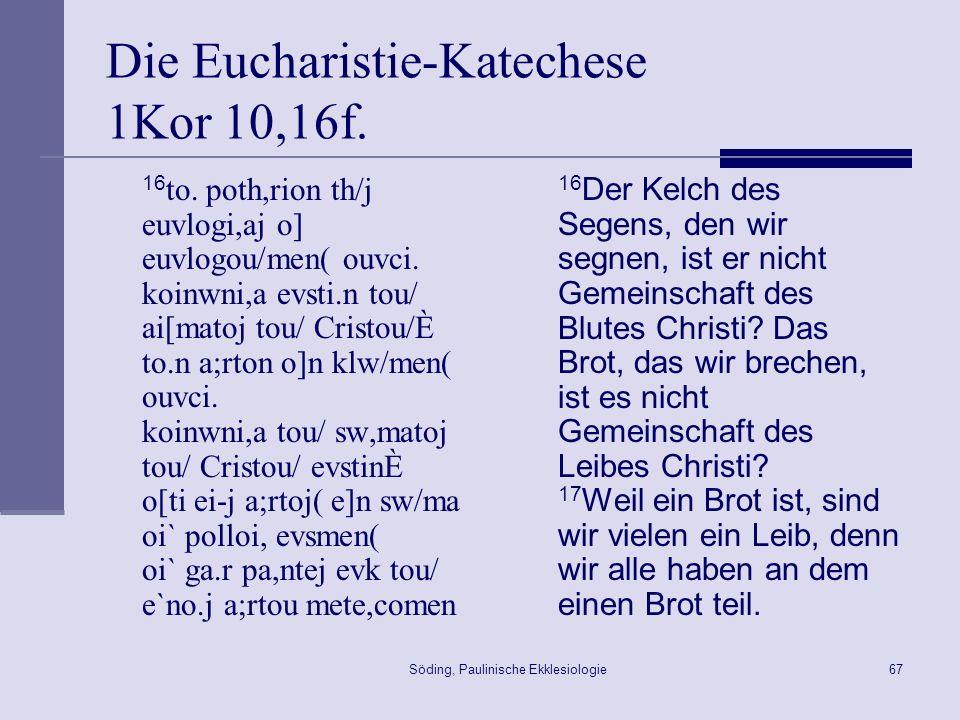 Söding, Paulinische Ekklesiologie68 Über die Geistesgaben … 1 Peri.