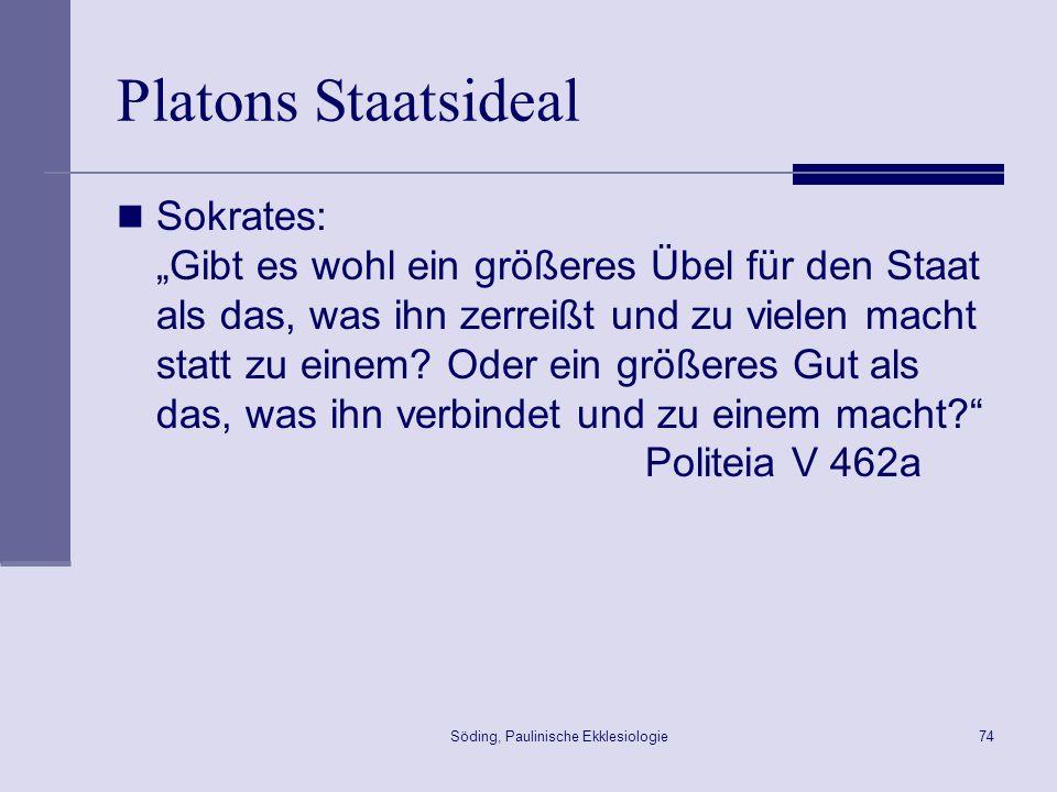 Söding, Paulinische Ekklesiologie75 Leib Christi 1Kor 12,27 ~Umei/j de, evste sw/ma Cristou/ kai.