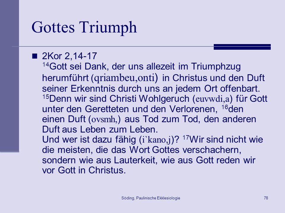 Söding, Paulinische Ekklesiologie79 Triumphzug Der Titusbogen in Rom