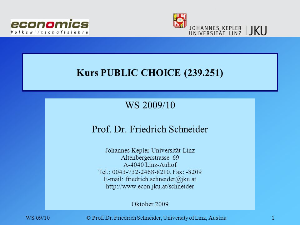WS 09/10© Prof. Dr.