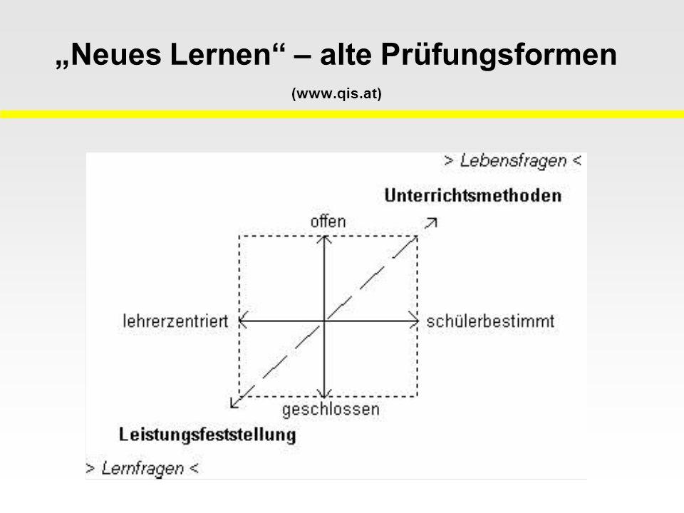 Neues Lernen – alte Prüfungsformen (www.qis.at)