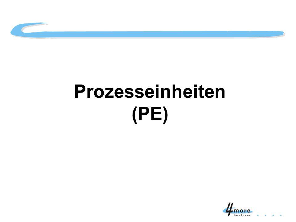 Prozesseinheiten (PE) Titelblatt Prozesseinheiten (PE)
