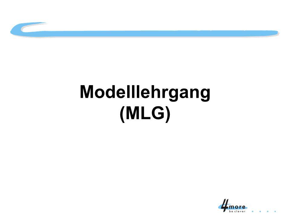 Modelllehrgang (MLG) Titelblatt Modelllehrgang (MLG)