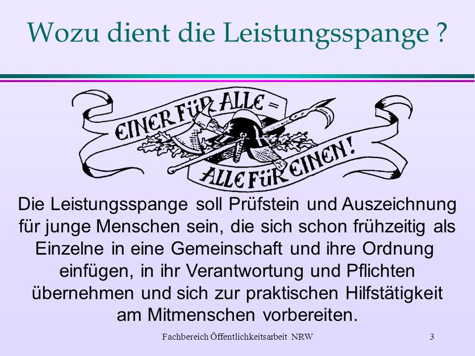 Fachbereich Öffentlichkeitsarbeit NRW2 l Wozu dient die Leistungsspange .