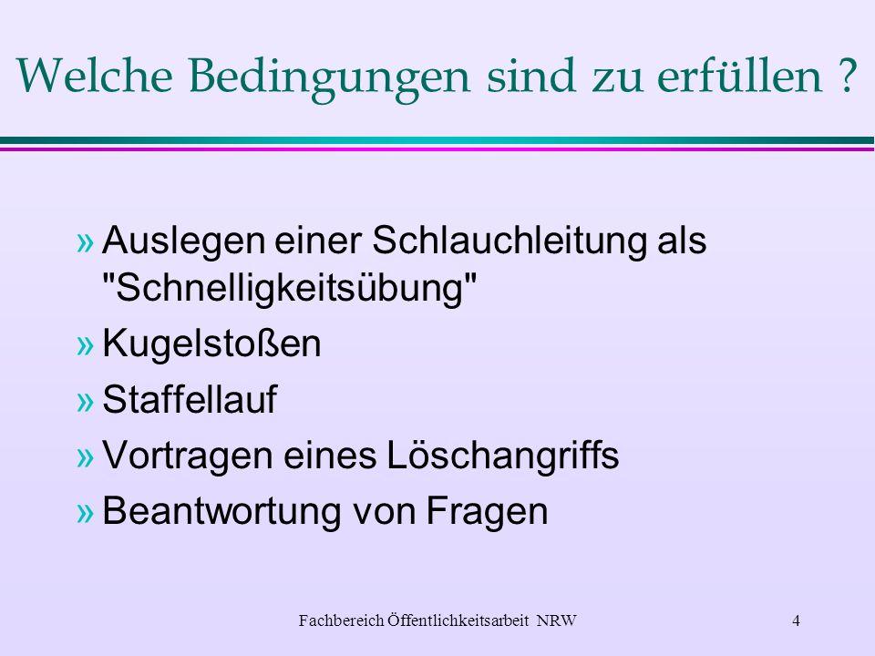 Fachbereich Öffentlichkeitsarbeit NRW3 Wozu dient die Leistungsspange .