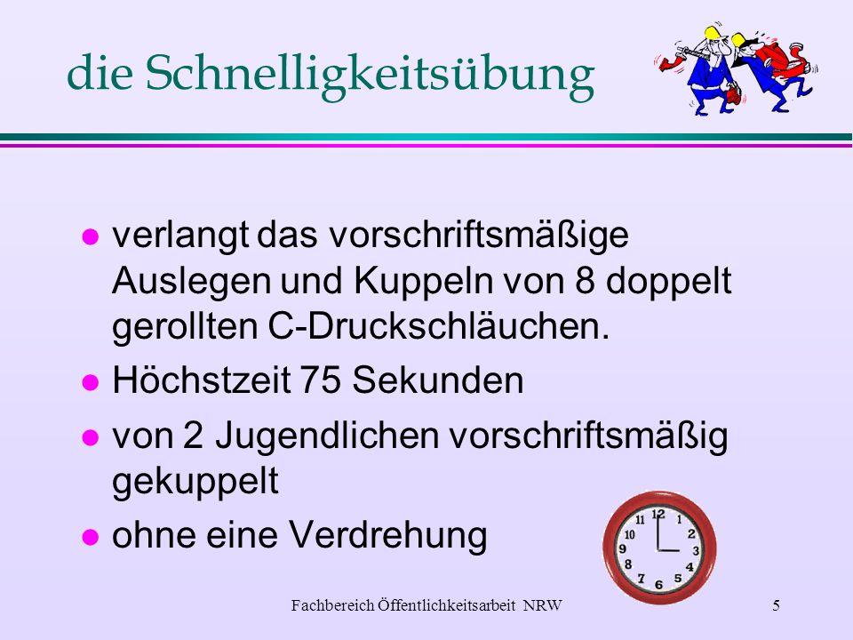 Fachbereich Öffentlichkeitsarbeit NRW4 Welche Bedingungen sind zu erfüllen .