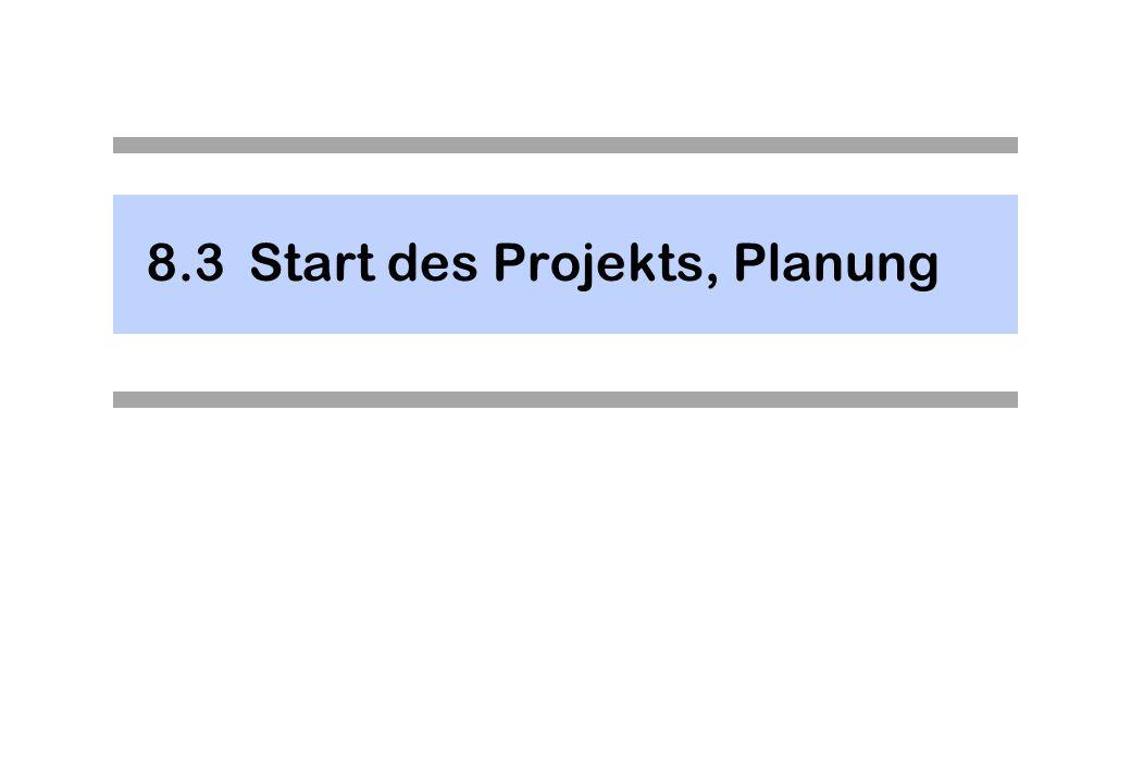 8.3Start des Projekts, Planung