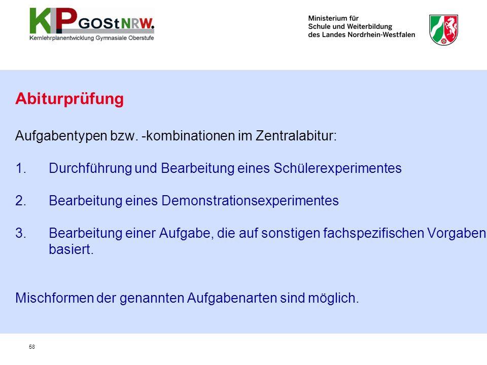 58 Abiturprüfung Aufgabentypen bzw.