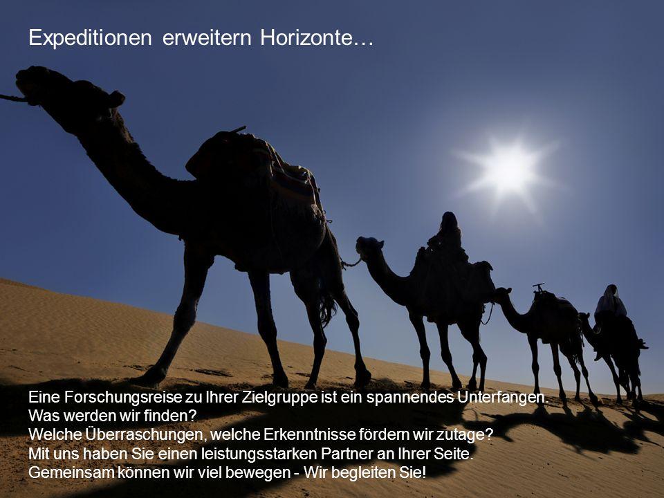 Arbeitsgemeinschaft für Markt- und Meinungsforschung GmbH © AGEMAS - Seite 12 Expeditionen erweitern Horizonte… Eine Forschungsreise zu Ihrer Zielgrup