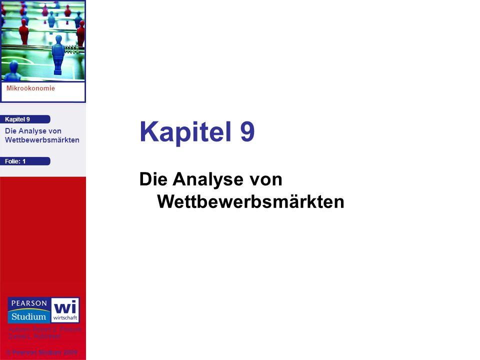 Kapitel 9 Mikroökonomie Autoren: Robert S. Pindyck Daniel L. Rubinfeld Die Analyse von Wettbewerbsmärkten Kapitel 9 Die Analyse von Wettbewerbsmärkten