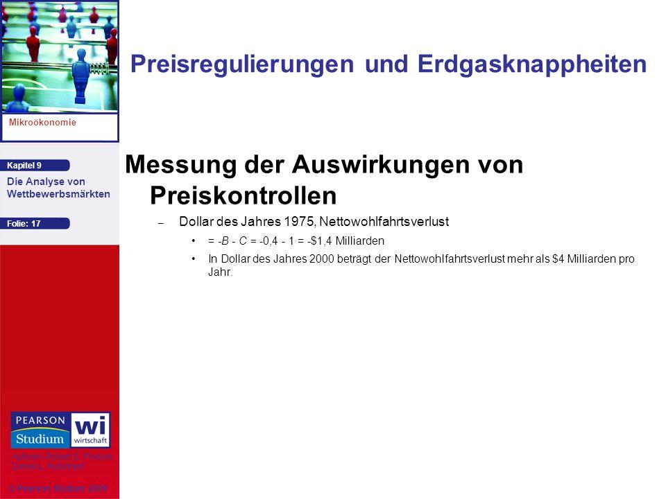 Kapitel 9 Mikroökonomie Autoren: Robert S. Pindyck Daniel L. Rubinfeld Die Analyse von Wettbewerbsmärkten © Pearson Studium 2009 Folie: 17 Messung der