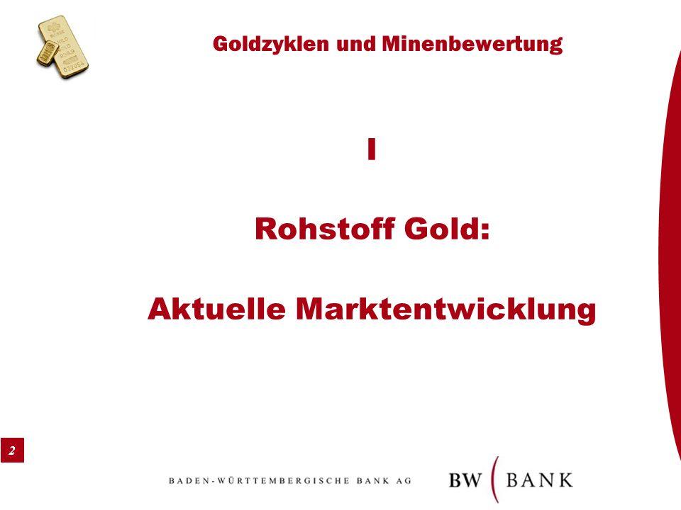 2 Goldzyklen und Minenbewertung I Rohstoff Gold: Aktuelle Marktentwicklung
