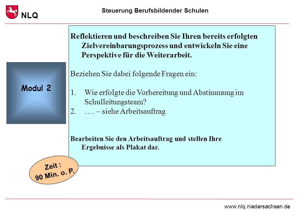 Steuerung Berufsbildender Schulen NLQ www.nlq.niedersachsen.de Reflektieren und beschreiben Sie Ihren bereits erfolgten Zielvereinbarungsprozess und e