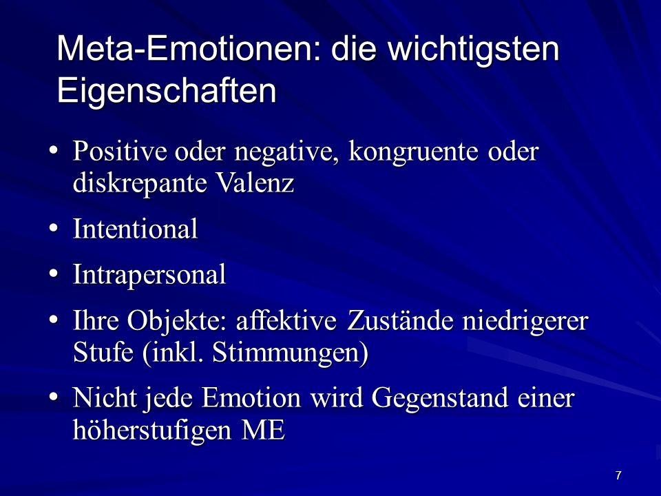7 Positive oder negative, kongruente oder diskrepante Valenz Positive oder negative, kongruente oder diskrepante Valenz Intentional Intentional Intrap