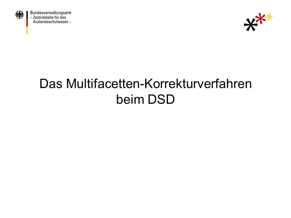 Das Multifacetten-Korrekturverfahren beim DSD