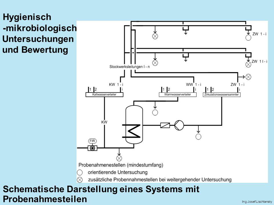 Schematische Darstellung eines Systems mit Probenahmesteilen Ing Josef Lischtansky Hygienisch -mikrobiologisch Untersuchungen und Bewertung