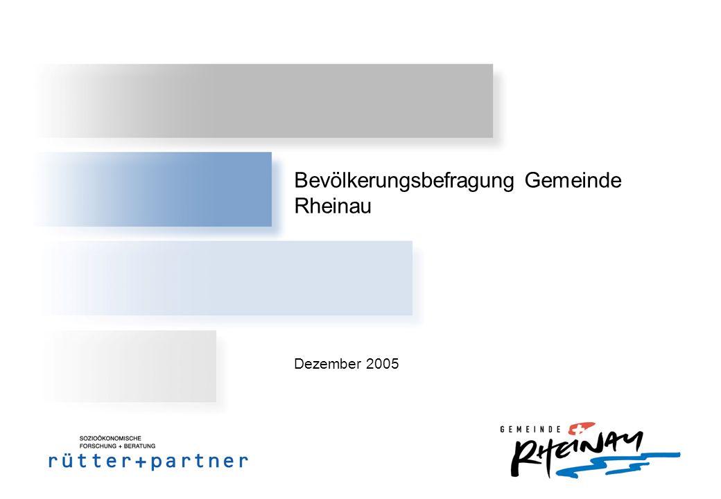 Bevölkerungsbefragung Gemeinde Rheinau Dezember 2005