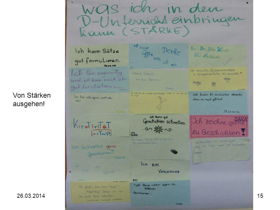 Elisabeth Kossmeier, PH OÖ1526.03.2014 Von Stärken ausgehen!
