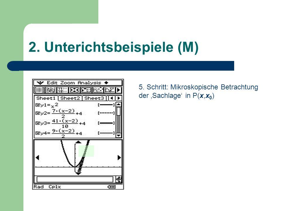 2. Unterichtsbeispiele (M) 5. Schritt: Mikroskopische Betrachtung der Sachlage in P(x,x 0 )