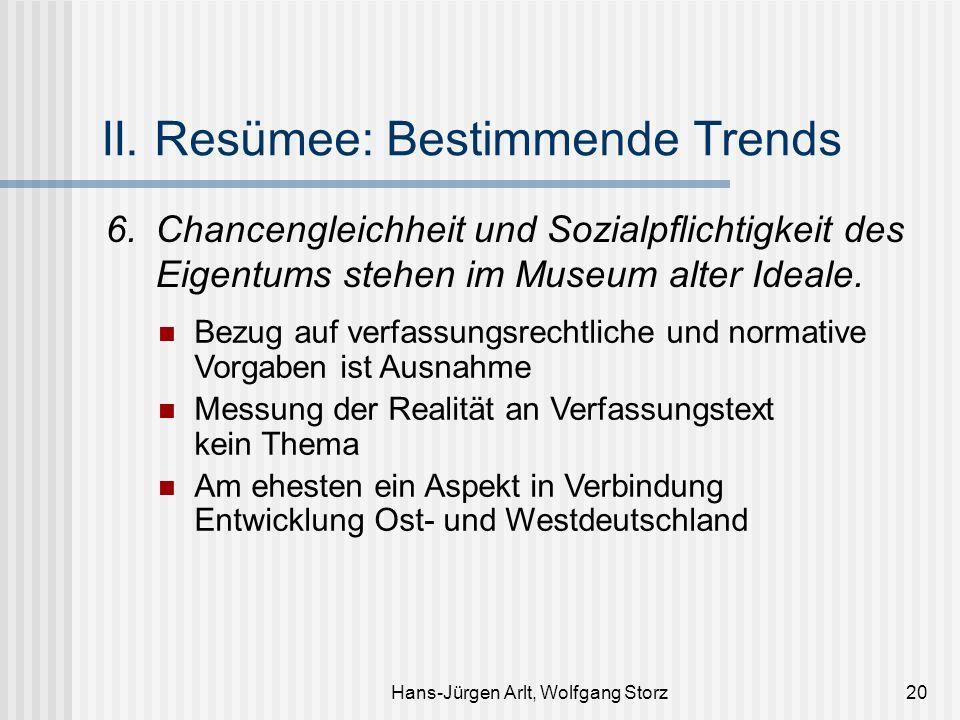 Hans-Jürgen Arlt, Wolfgang Storz20 II. Resümee: Bestimmende Trends 6.Chancengleichheit und Sozialpflichtigkeit des Eigentums stehen im Museum alter Id
