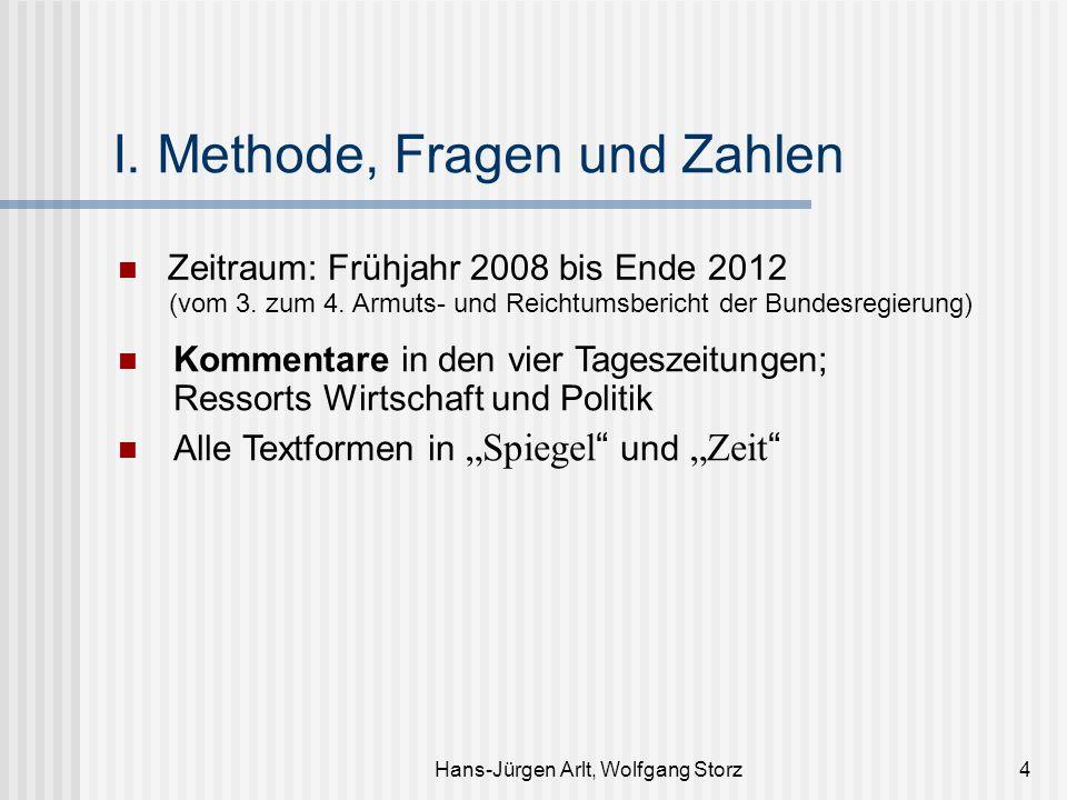 Hans-Jürgen Arlt, Wolfgang Storz4 I. Methode, Fragen und Zahlen Zeitraum: Frühjahr 2008 bis Ende 2012 (vom 3. zum 4. Armuts- und Reichtumsbericht der