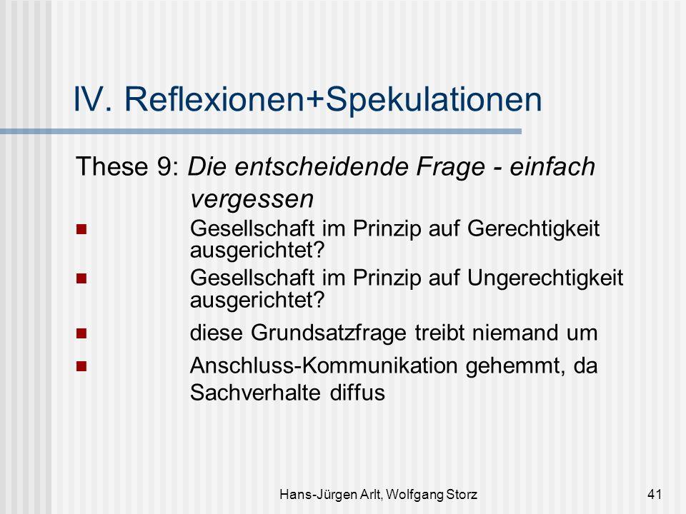 Hans-Jürgen Arlt, Wolfgang Storz41 IV. Reflexionen+Spekulationen These 9: Die entscheidende Frage - einfach vergessen Gesellschaft im Prinzip auf Gere