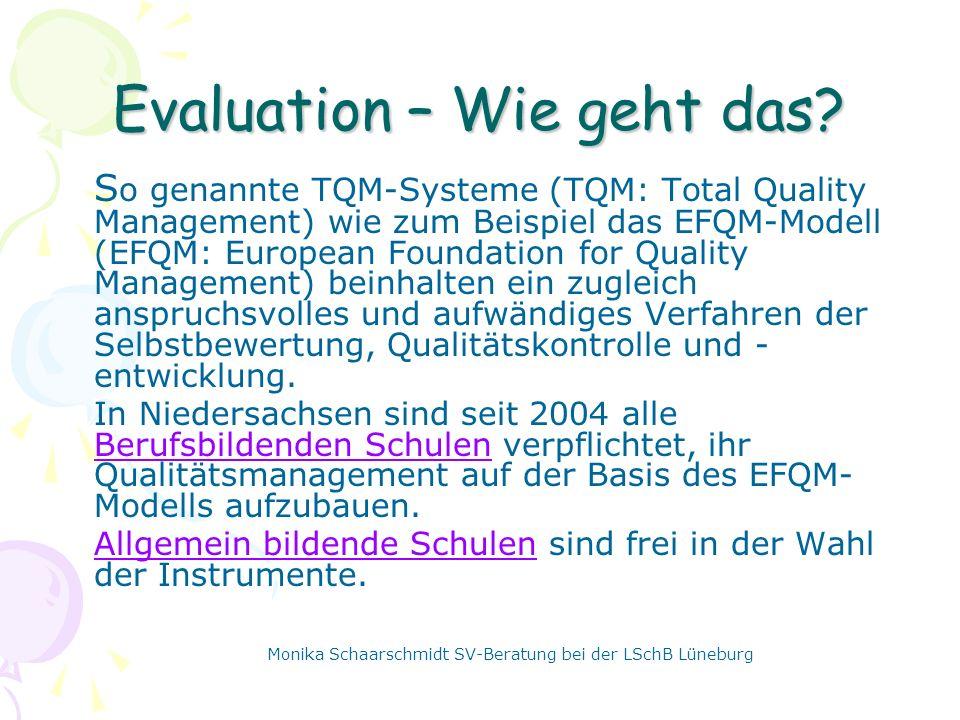 Evaluation – Wie geht das.