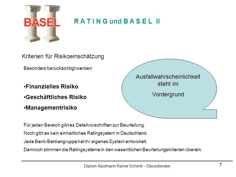 8 R A T I N G und B A S E L II Rating - typische Fragestellungen innerhalb eines Ratingprozesses Strategie Welche strategischen Ziel verfolgen Sie.