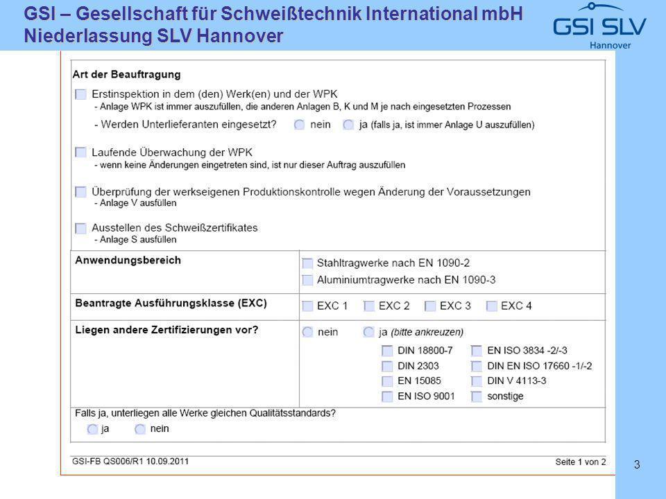 SLVHannoverSLVHannover GSI – Gesellschaft für Schweißtechnik International mbH Niederlassung SLV Hannover 3