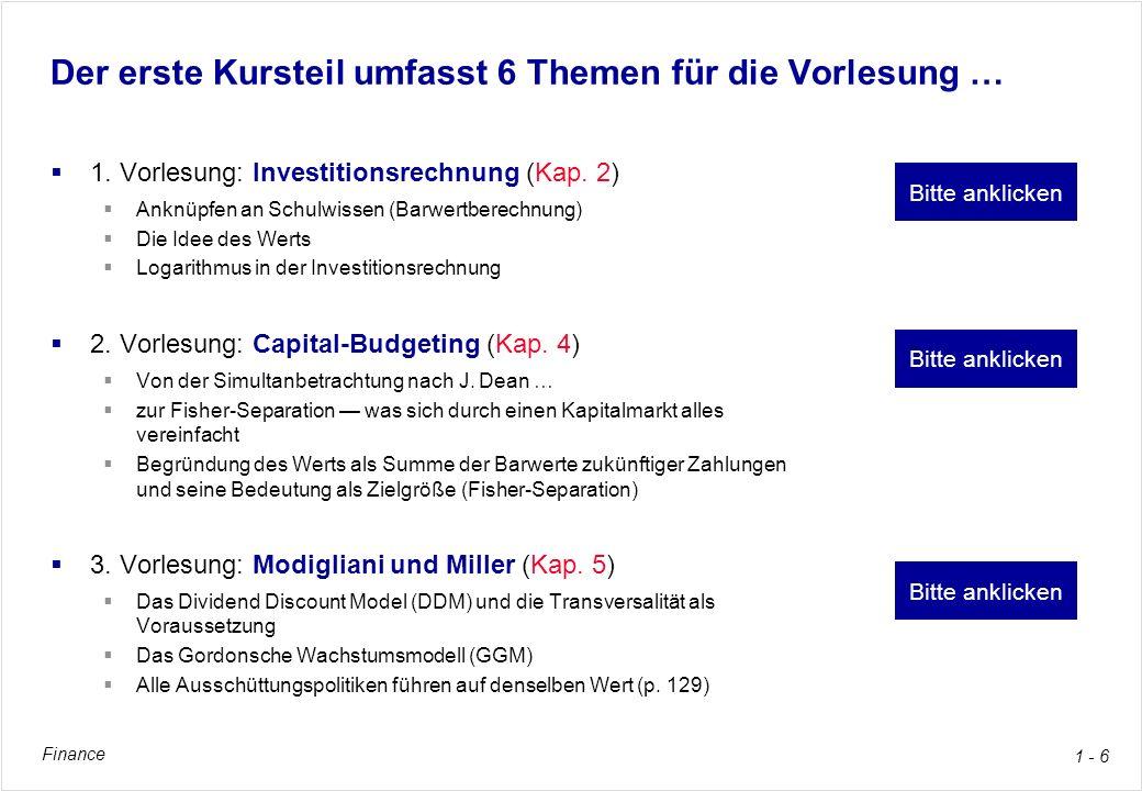 Finance 1 - 17 Thema A für das Selbststudium: Finanzierung Buchkapitel 3, pp.