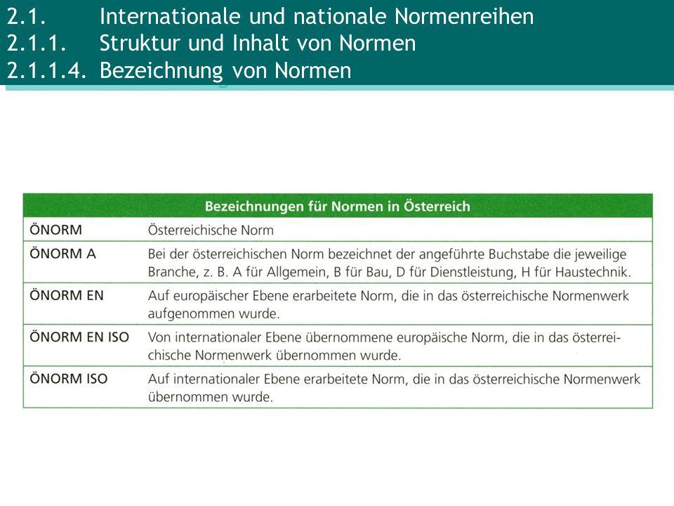 2.1.Internationale und nationale Normenreihen 2.1.1.Struktur und Inhalt von Normen 2.1.1.4.Bezeichnung von Normen
