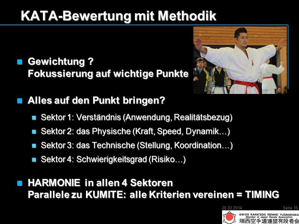 KATA-Bewertung mit Methodik Gewichtung . Fokussierung auf wichtige Punkte Gewichtung .